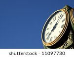 Outdoor clock displays the time - stock photo