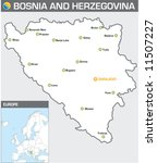 Bosnia and Herzegovina - stock vector