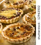 tasty quiche - stock photo