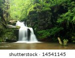 Waterfall in Jeseniky mountains in Czech - stock photo