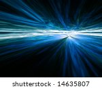 Blue Vista - fractal illustration - stock photo