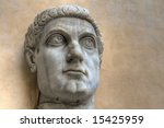 Statue of of the Roman Emperor Constantine. - stock photo