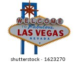 Las Vegas Strip Sign with White Background - stock photo