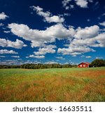 Swedish countryside scenery - stock photo