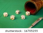 Game of dice - stock photo