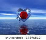 heart and drops - stock photo