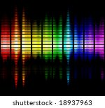 viewable colours frequencies - stock photo