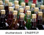 Liquor bottles - stock photo