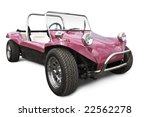 pink beach buggy - stock photo