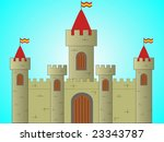 Illustration of a medieval castle - stock photo