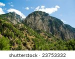 Samaria Gorge. Greece, Crete, White Mountains - stock photo
