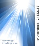 Abstract business background with burst of light towards your message - stock vector