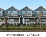 Adjoining Houses - stock photo