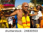 Kuala Lumpur, Malaysia - Feb 8: Celebration of Thaipusam at Batu Caves on February 8, 2009. Thaipusam is a Hindu festival and it honors Subrimaya, son of Shiva and an important deity in southern India. - stock photo