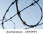 Barbed Razor Wire - stock photo