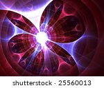 RW&B Plasma Coil - 3D fractal design - stock photo