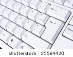 Computer keyboard. - stock photo