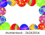 An easter eggs frame - stock photo