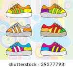 Six vector funky keds - stock vector