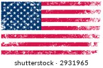Flag of United States - grunge background(vector, illustration) - stock vector