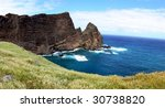 Madeira - Ponta do Sao Laurenco, Cliffs along the Atlantic Ocean, Portugal - stock photo