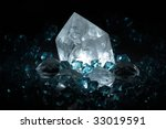 natural crystals - stock photo