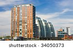 Manchester Lowry Modern flats - stock photo