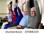 seniors exercising - stock photo
