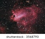 M17 Omega Nebula in Sagittarius - stock photo