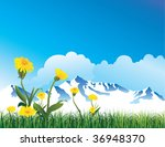 Mountain view - stock vector