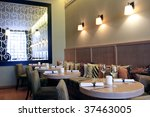 Modern High Class Luxury restaurant and cafe - stock photo