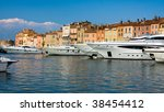 Luxury Yachts in Saint-Tropez - stock photo