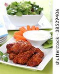 Chicken wings - Buffalo style - stock photo