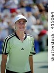 Martina Hingis at 2000 Acura Tennis Classic - stock photo
