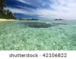 Seychelles seascape. Mahe island. Ocean. - stock photo