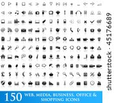 150 web icons - stock vector