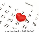 Valentine's Day in calendar - stock photo