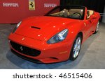 TORONTO - FEBRUARY 11: Ferrari California at the 2010 Canadian International Auto Show on February 11, 2010 in Toronto - stock photo