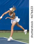 Maria Kirilenko Plays Doubles, Acura Classic, July 31, 2007 - stock photo