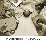Sentimental memories, in sepia tone - stock photo