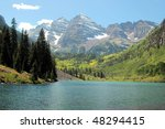Maroon Bells, Colorado - stock photo