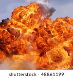 explosion flame - stock photo