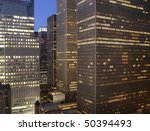 New York City near times square at night - stock photo