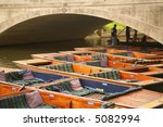cambridge punts - stock photo