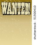Old Style Wanted Poster - stock vector