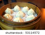 steamed bread - stock photo
