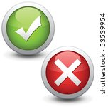 Check mark buttons. Vector illustration. - stock vector