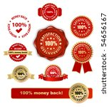 money back satisfaction vector labels - stock vector