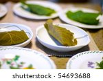 kashiwa-mochi - stock photo