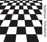 A large black and white checker floor background pattern - stock vector